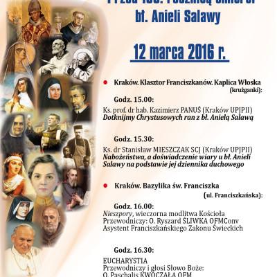 4 rok nowenny przed 100 rocznicą śmierci bł. Anieli Salawy