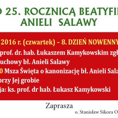 Przed 25 rocznicą beatyfikacji Anieli Salawy