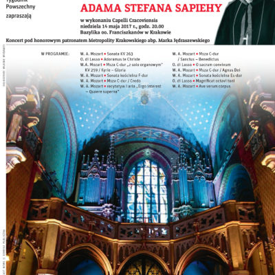 Jubileuszowy koncert z okazji 150. rocznicy urodzin kardynała Adama Stefana Sapiehy