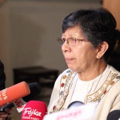 S. Berta spotkała się z dziennikarzami