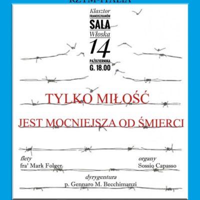 Koncert poświęcony św. Maksymilianowi